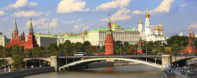 Kremlin. Moscow. Russia. View of the Kremlin - fortress in the center of Moscow, the official residence of the President of the Russian Federation. The Moscow Stock Photography