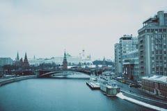 kremlin moscow sikt Royaltyfria Foton