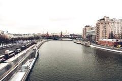 kremlin moscow sikt Royaltyfria Bilder