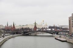 kremlin moscow sikt Royaltyfri Fotografi