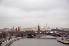 kremlin moscow sikt Arkivfoto