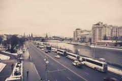 kremlin moscow sikt Arkivbilder
