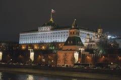 kremlin moscow sikt moscow natttsaritsyno Fotografering för Bildbyråer
