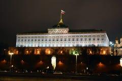 kremlin moscow sikt moscow natttsaritsyno Royaltyfria Bilder