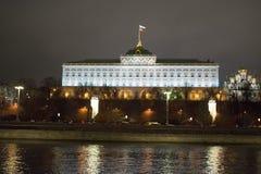 kremlin moscow sikt moscow natttsaritsyno Arkivbilder