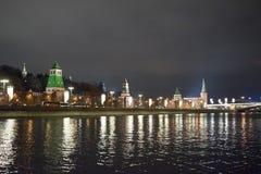 kremlin moscow sikt moscow natttsaritsyno Royaltyfri Foto