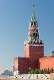 kremlin moscow spaskatorn fotografering för bildbyråer