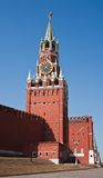 kremlin moscow spasskayatorn Arkivfoto