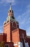 kremlin moscow spasskayatorn Arkivbilder