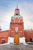 kremlin moscow spasskayatorn Arkivbild