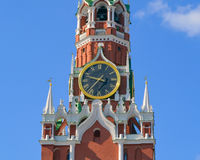 kremlin moscow spasskayatorn Royaltyfri Bild