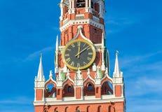 kremlin moscow spasskayatorn Royaltyfria Foton