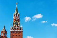 kremlin moscow spasskayatorn Royaltyfria Bilder
