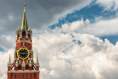 kremlin moscow spasskayatorn Royaltyfri Foto