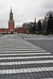 kremlin moscow spasskayatorn Färgfoto Arkivbild