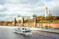 The kremlin. The Moscow Kremlin and St. Basil`s Cathedral Stock Photography