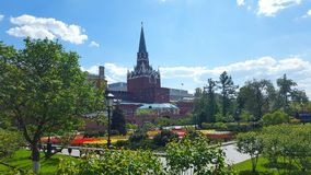 Kremlin. Moscow summer trees city Stock Photos