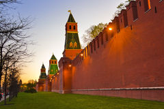 Kremlin in Moscow at sunset royalty free stock photography