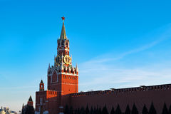 Kremlin in Moscow at sunset. Red Square Royalty Free Stock Photography
