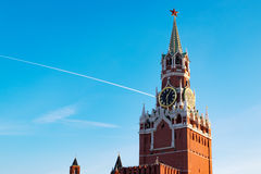Kremlin in Moscow at sunset. Red Square Royalty Free Stock Image