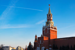 Kremlin in Moscow at sunset. Red Square Stock Photo