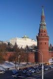 kremlin moscow vinter Arkivbilder