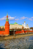 kremlin moscow vinter Arkivfoto