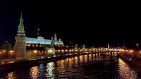 Kremlin in Moskau stock footage