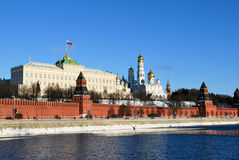 The Kremlin and the Moskova in Moscow Royalty Free Stock Photo