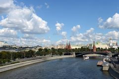 Kremlin and Moskva River. Royalty Free Stock Photo