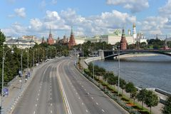 Kremlin and Moskva River. Royalty Free Stock Images