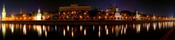 kremlin natt Arkivfoto