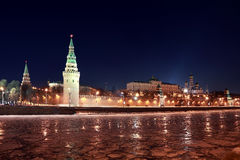 Kremlin near Red Square at winter in Moscow Royalty Free Stock Photography