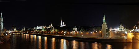 Kremlin by night Royalty Free Stock Images