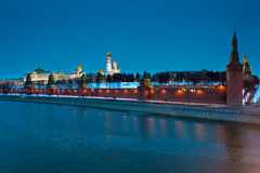Kremlin at night Royalty Free Stock Image
