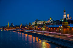 The Kremlin at Night Royalty Free Stock Photography