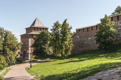 Kremlin in Nizhny Novgorod Stockfotos