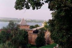 Kremlin of Nizhny Novgorod stock photo