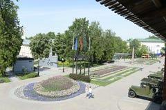 Kremlin Nizhny Novgorod Muzeum militarnego wyposażenia Radziecki Czerwony wojsko Maj 2014 Fotografia Stock