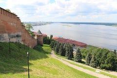 Kremlin Nizhny Novgorod Rosja Zdjęcie Stock