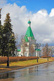 Kremlin in Nizhny Novgorod, Russia. Michael Archangels cathedral Royalty Free Stock Photos