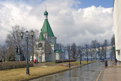 Kremlin in Nizhny Novgorod, Russia. Michael Archangels Cathedral Royalty Free Stock Images