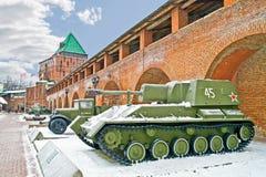 kremlin Nizhny Novgorod som bakgrund är kan använda väggen för fästningen bilden Royaltyfri Foto