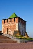 kremlin Nizhny Novgorod torn arkivfoton