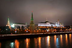 kremlin noc fotografia royalty free