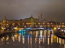 kremlin noc rzeki widok Zdjęcia Stock