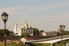 Kremlin in Novgorod Stock Photo