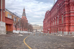 Kremlin passage and Uglovaya Arsenalnaya tower Stock Photo