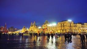 Kremlin, plac czerwony, tradycyjny jarmark, świętowanie, wakacje, naleśnikowy tydzień zbiory wideo
