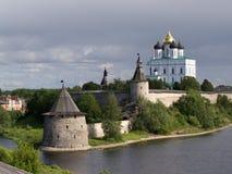 kremlin pskov Arkivfoto
